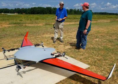 Беспилотное «летающее крыло» получило управление вектором тяги